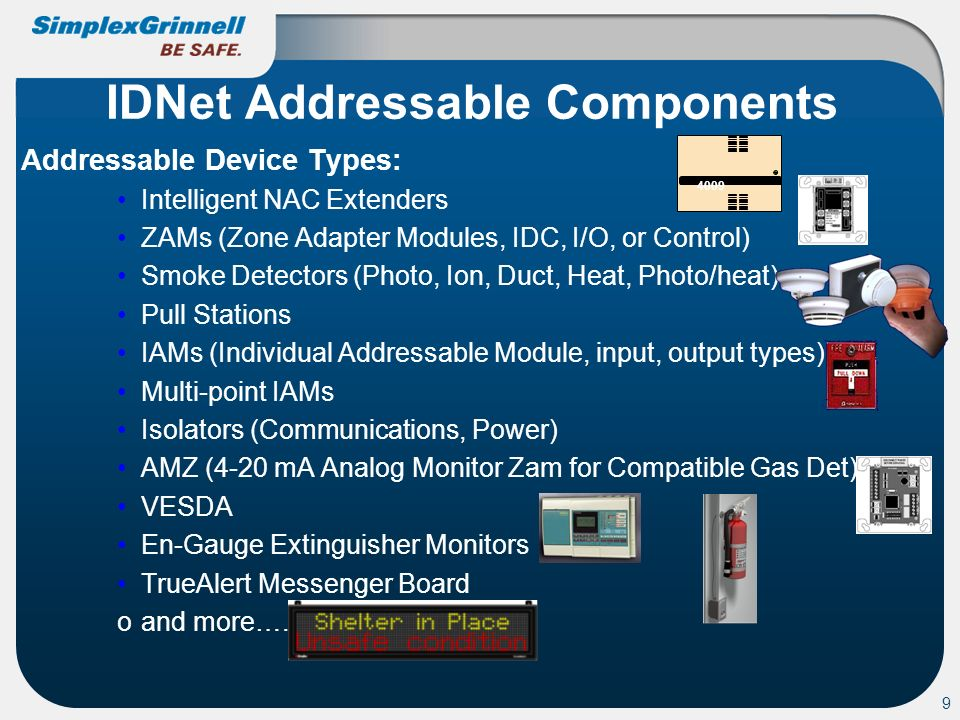 IDNet Addressable Components