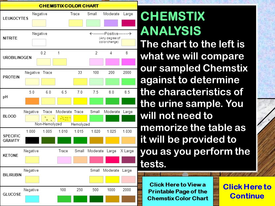 Click here to start the lab ppt download for Table 6 simulated urine protein test
