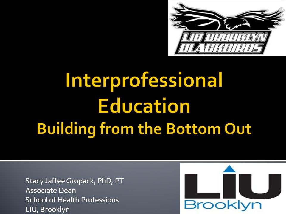 Interprofessional Education Building from the Bottom Out