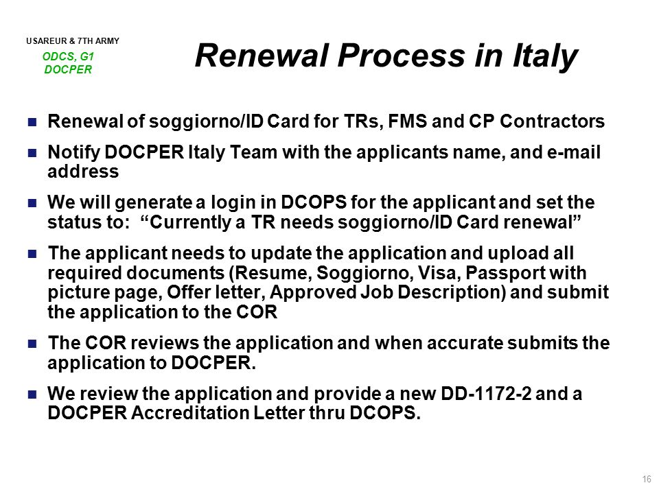 sa overview italy contractor accreditation process italy ppt