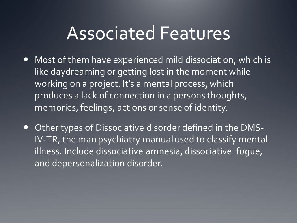 mental illness dissociative identity disorder essay Multiple personality disorder essay get the movie multiple personality disorder dissociative identity starting at the nation's most common mental illness.