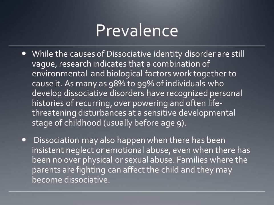 dissociative identity disorders and sexual abuse