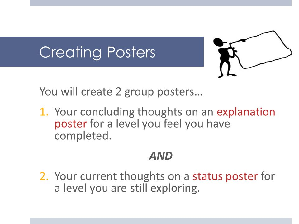 Creating Posters You will create 2 group posters…