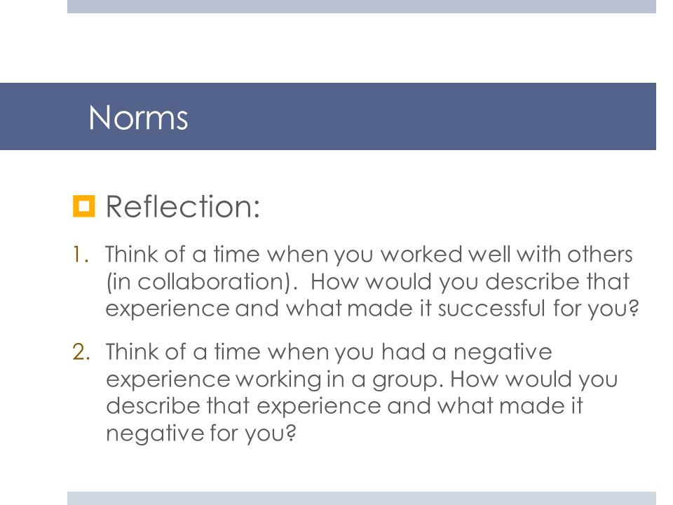 Norms Reflection: