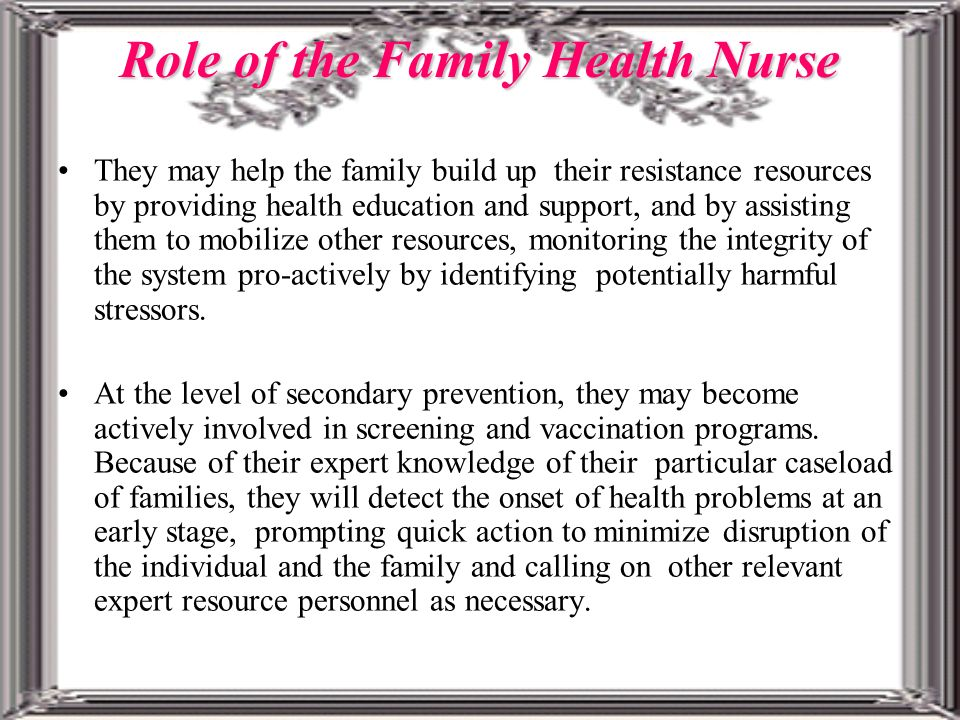 the role of the family nurse Quizlet provides role of the nurse activities, flashcards and games start learning today for free.