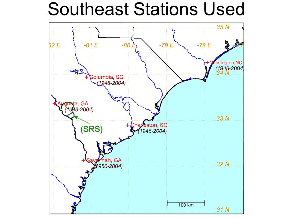 Southeast Stations Used