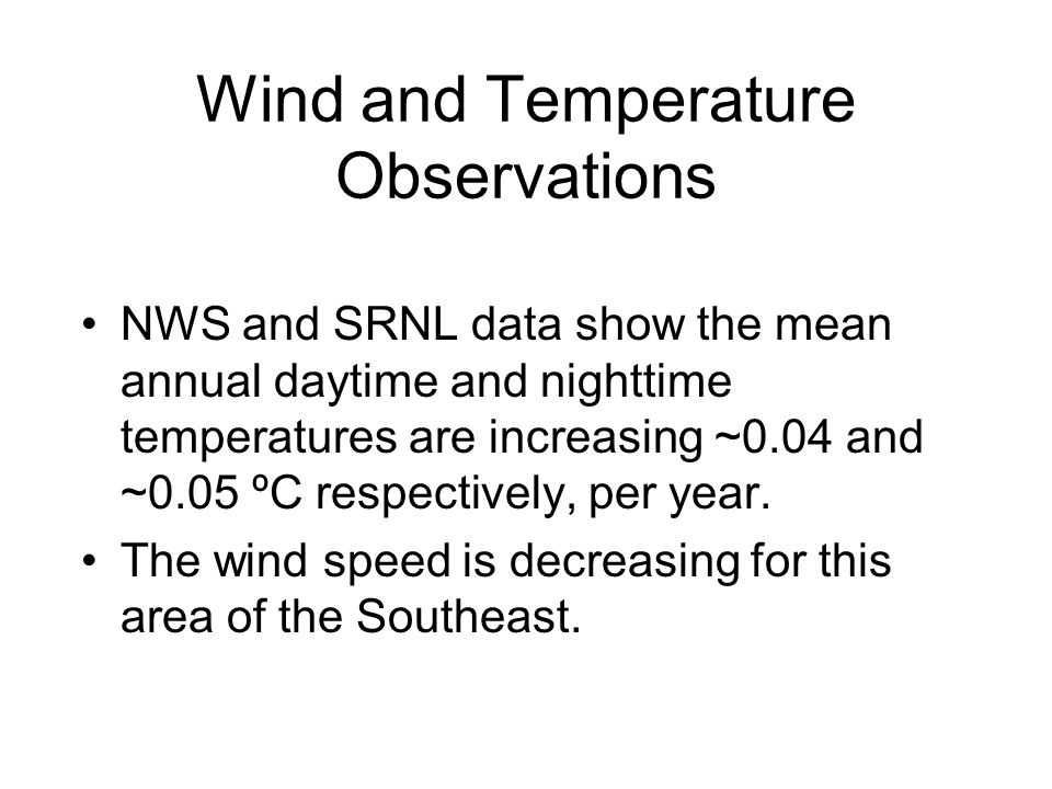 Wind and Temperature Observations