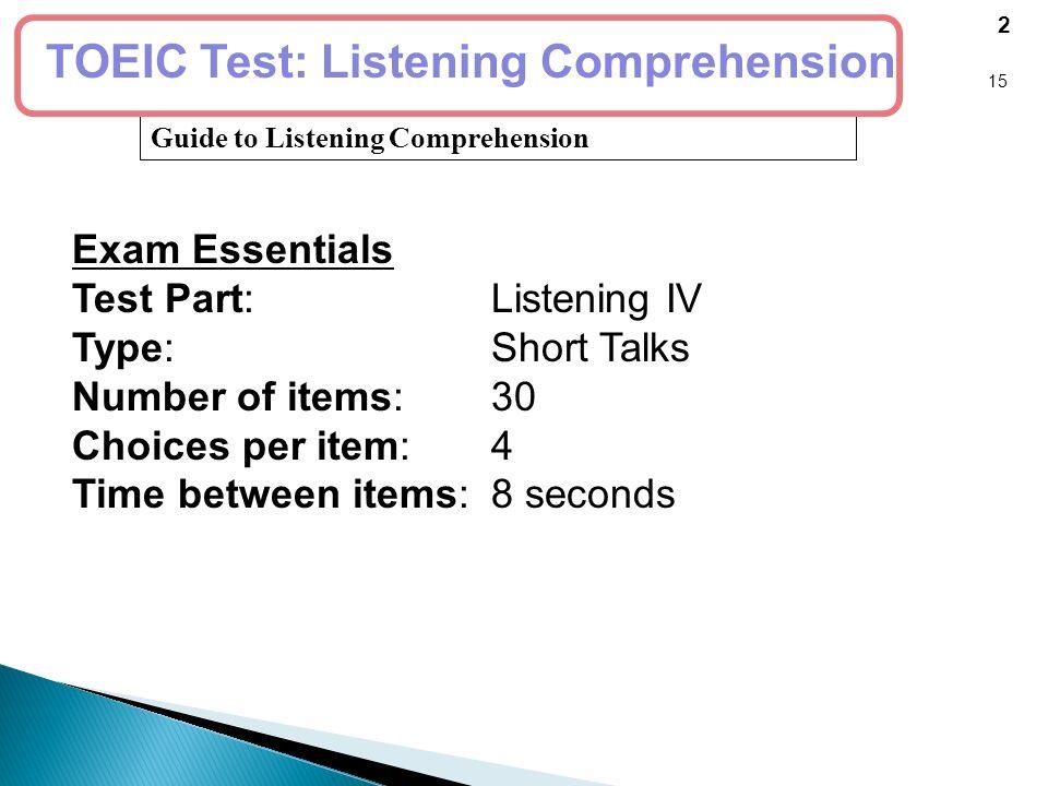 test 3 listening test