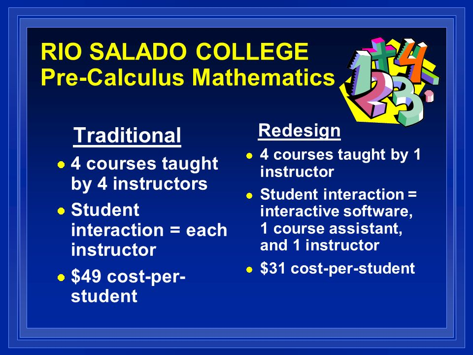 RIO SALADO COLLEGE Pre-Calculus Mathematics