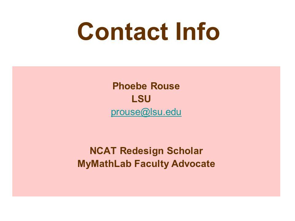 MyMathLab Faculty Advocate