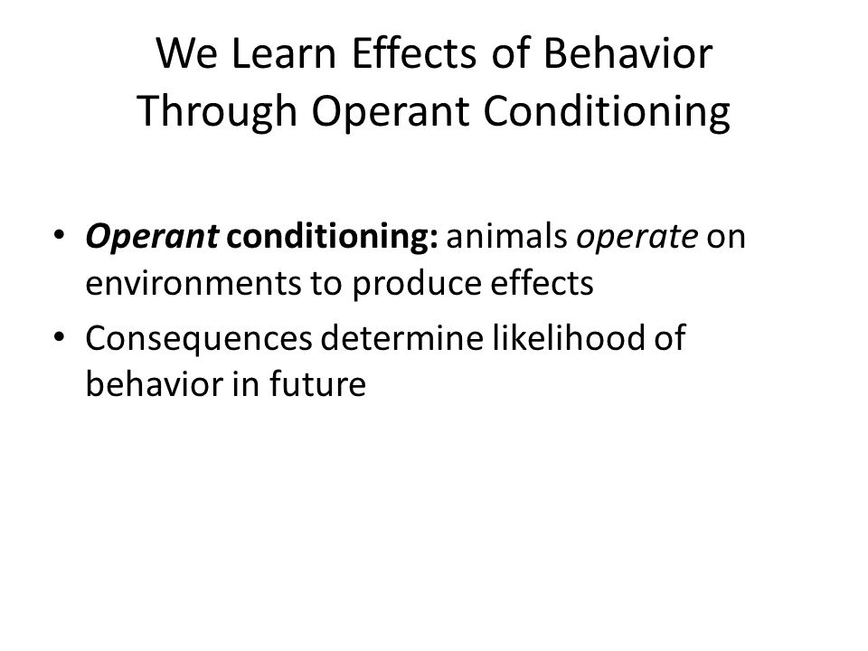 understanding operant conditioning What is the difference between classical and operant conditioning through this article let us examine the differences between classical and operant conditioning while gaining a better understanding of the individual theories.