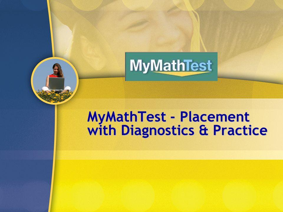 MyMathTest - Placement with Diagnostics & Practice