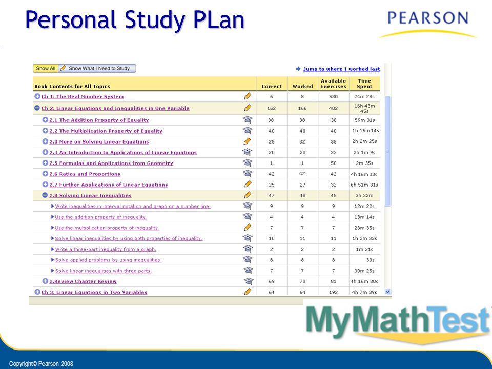 Personal Study PLan