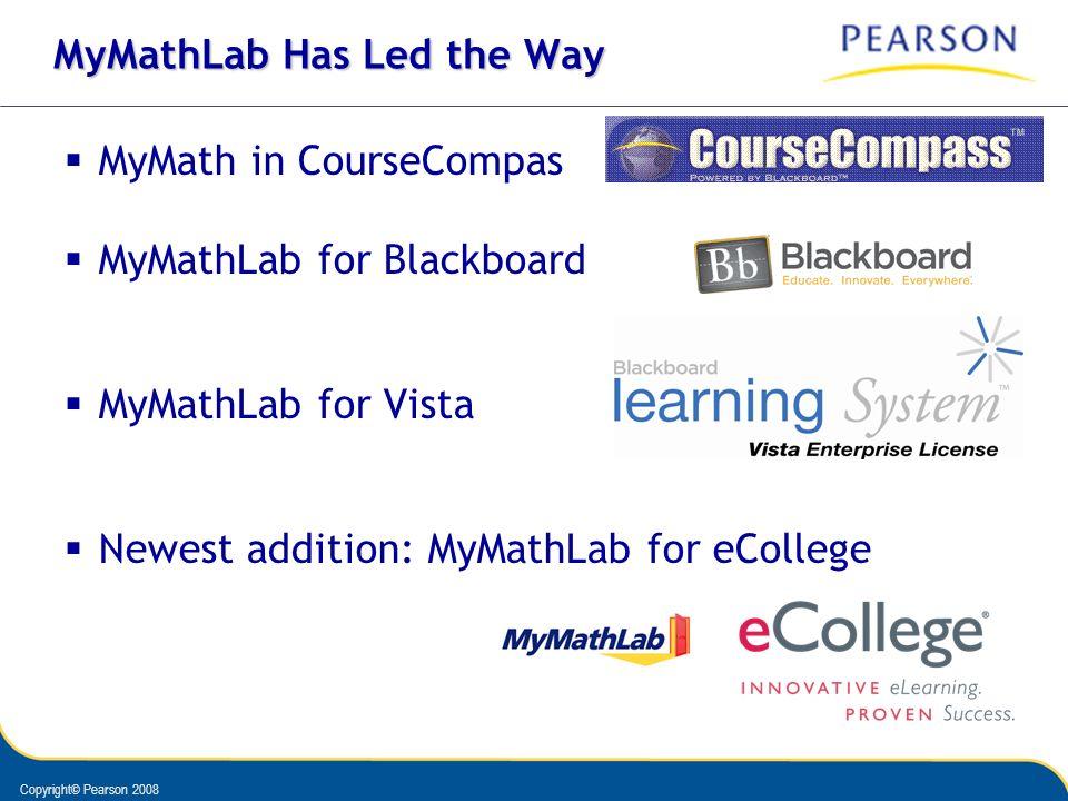 MyMathLab Has Led the Way