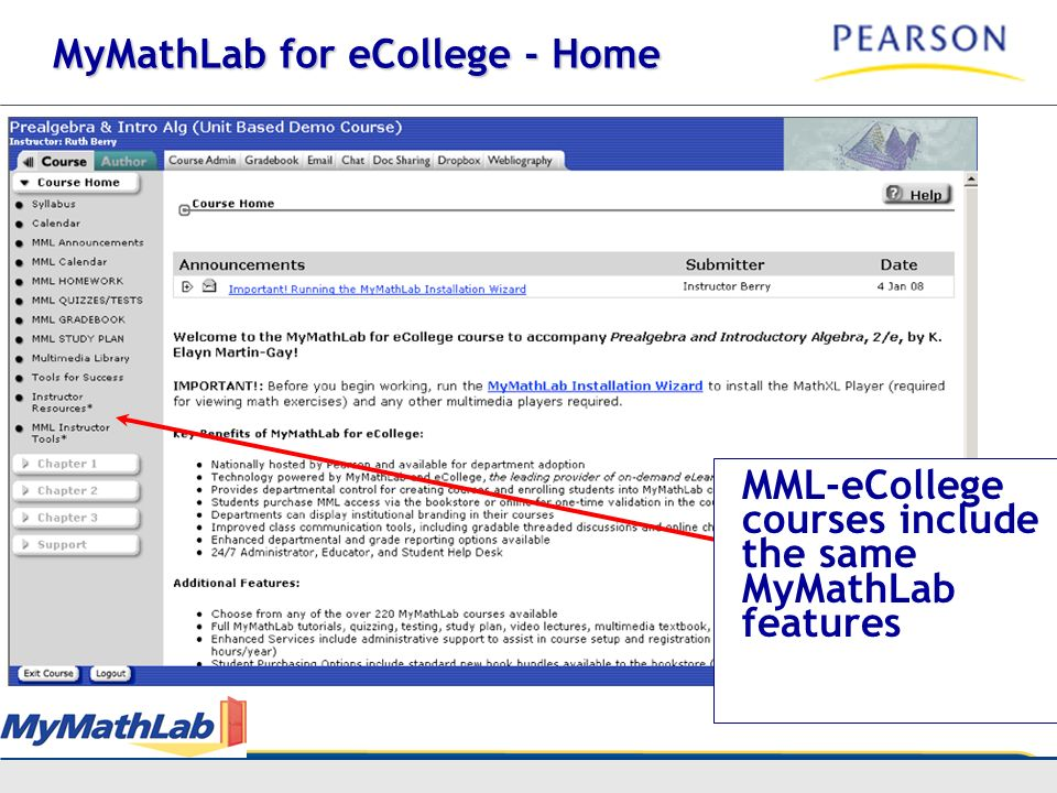 MyMathLab for eCollege - Home
