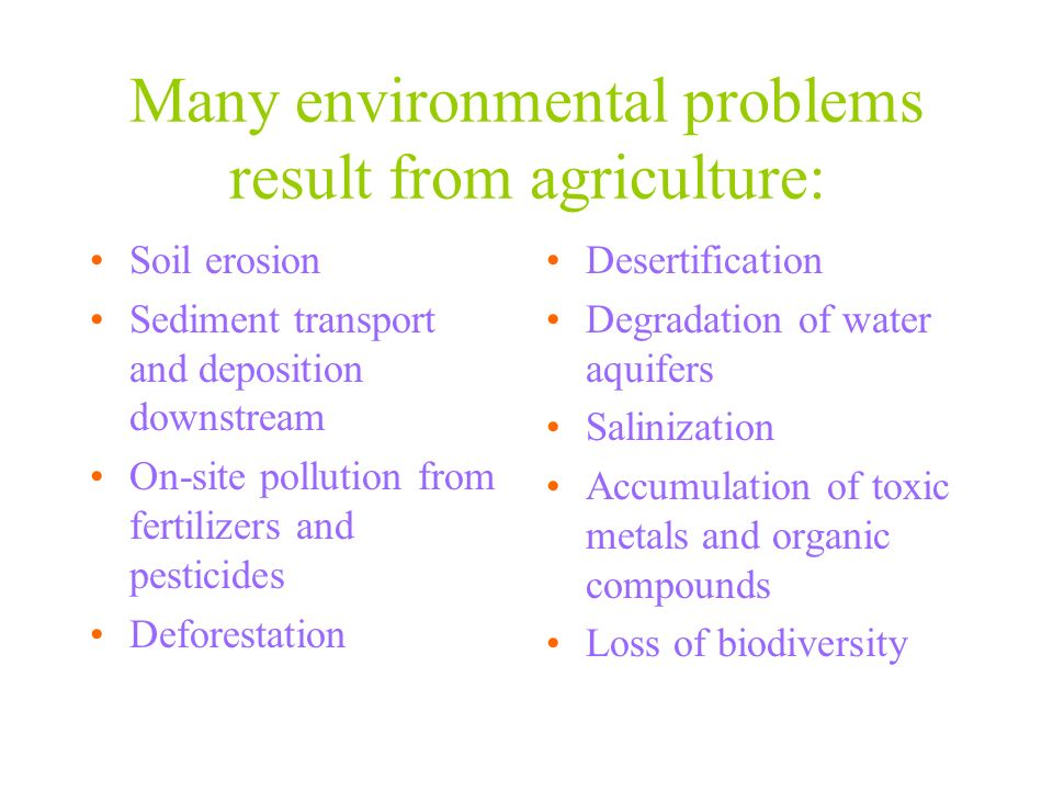 Environmental impact of pesticides