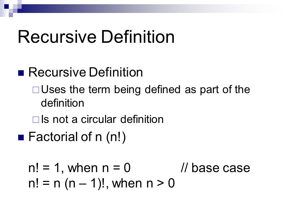 Recursion (computer science)