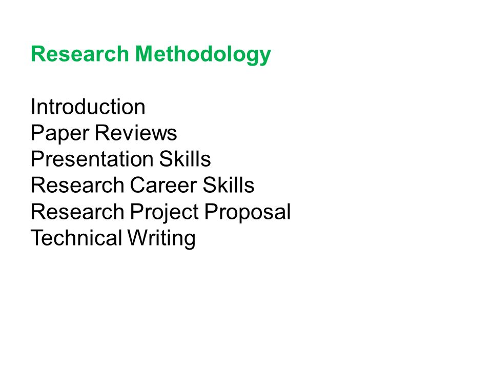 research methodology format