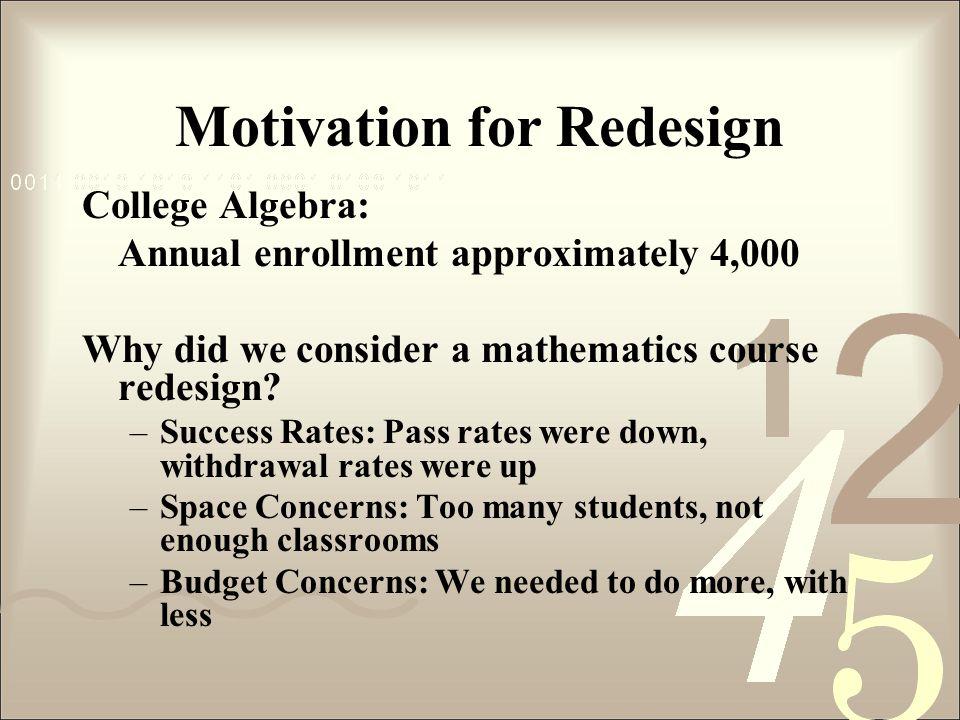 Motivation for Redesign