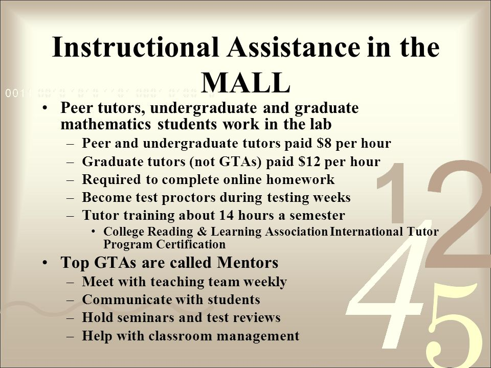Instructional Assistance in the MALL