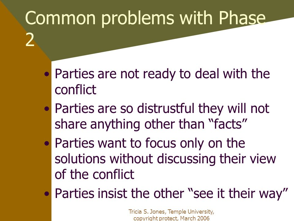 Common problems with Phase 2