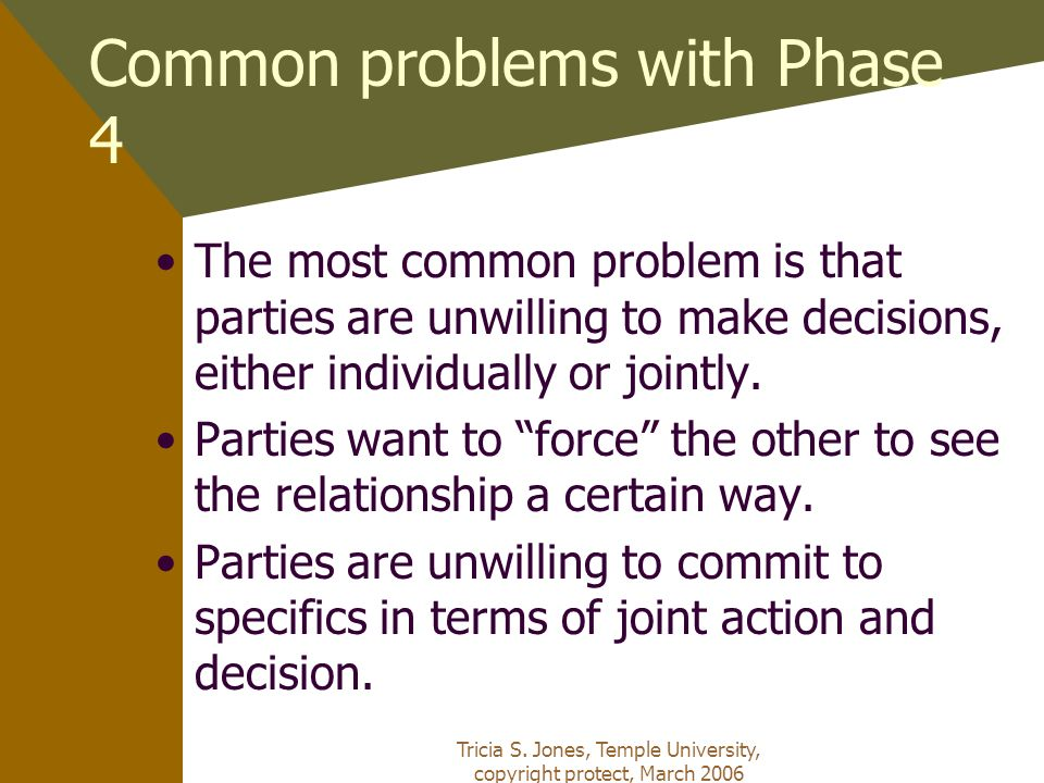 Common problems with Phase 4