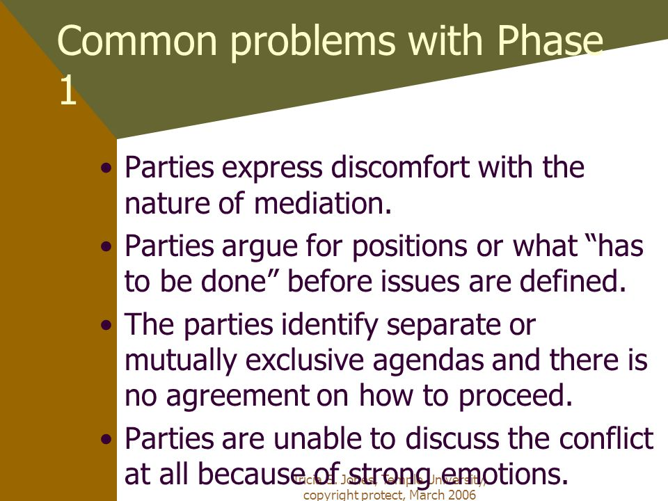 Common problems with Phase 1