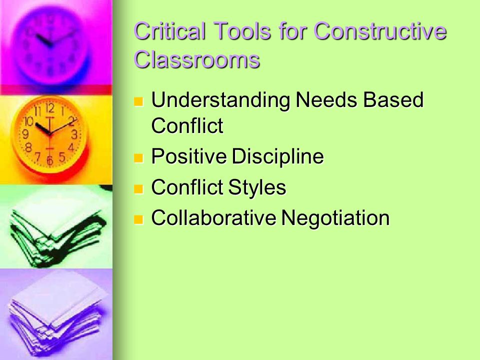 Critical Tools for Constructive Classrooms