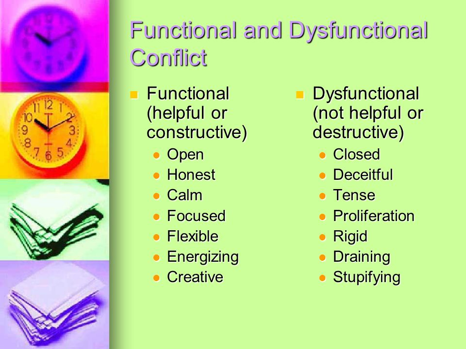 Functional and Dysfunctional Conflict