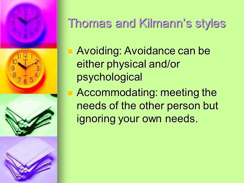 Thomas and Kilmann's styles