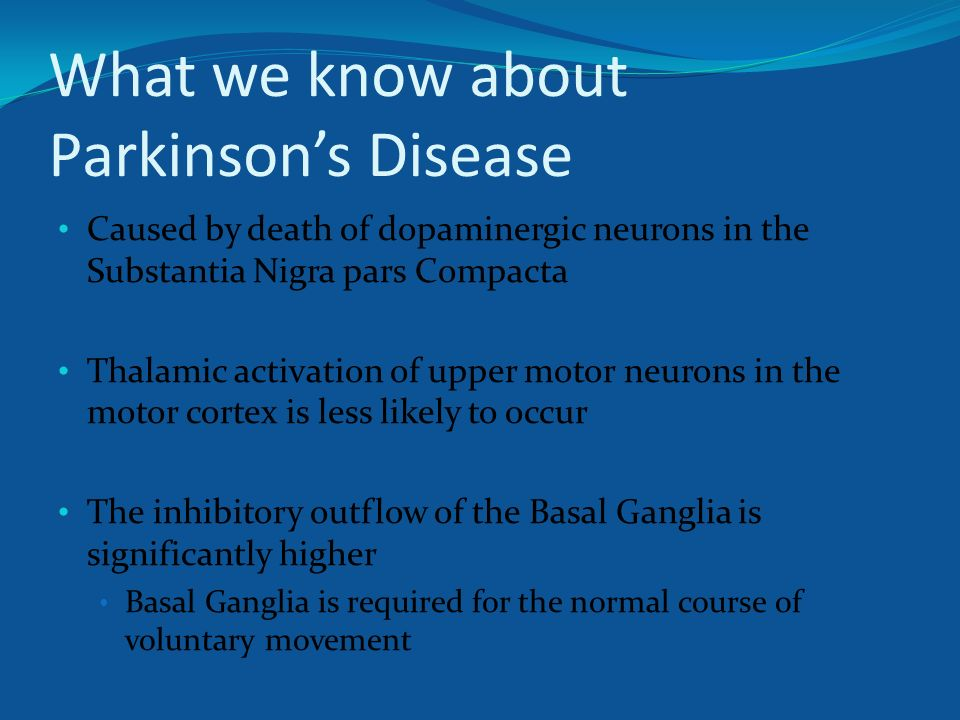 Subthalamic gad gene therapy in a parkinson s disease rat for What is motor neuron disease caused by