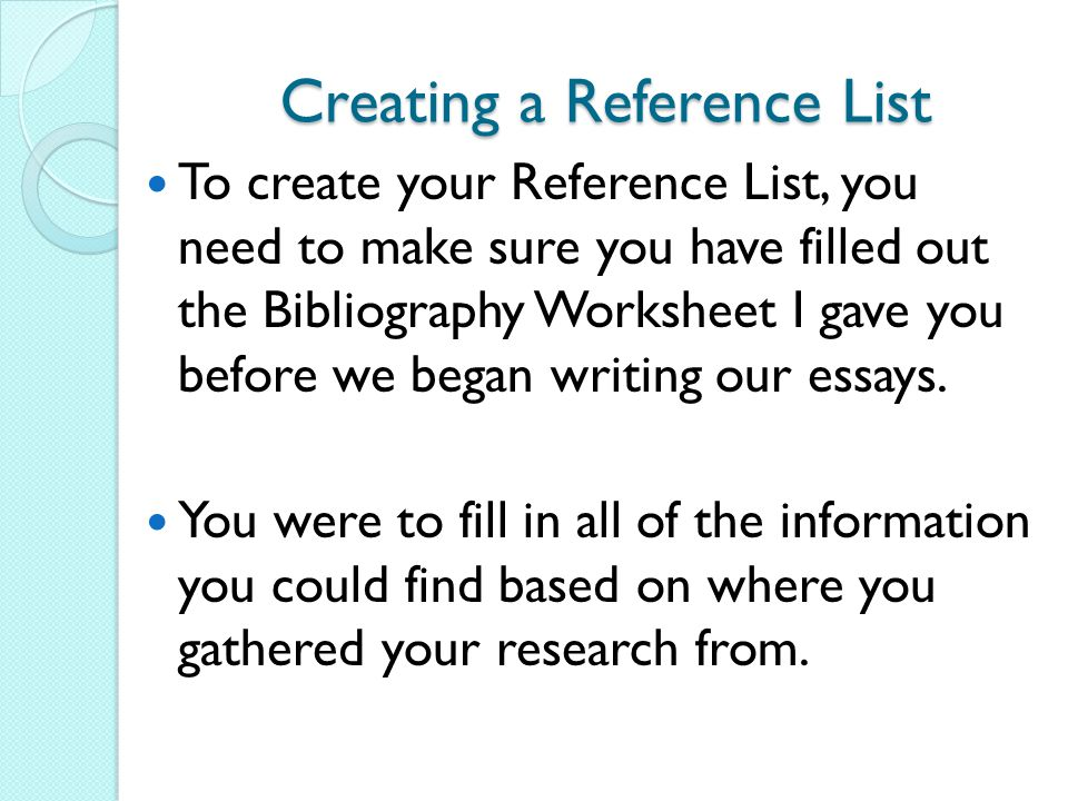how to make reference in ppt