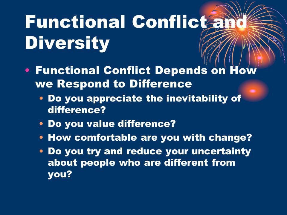 Functional Conflict and Diversity