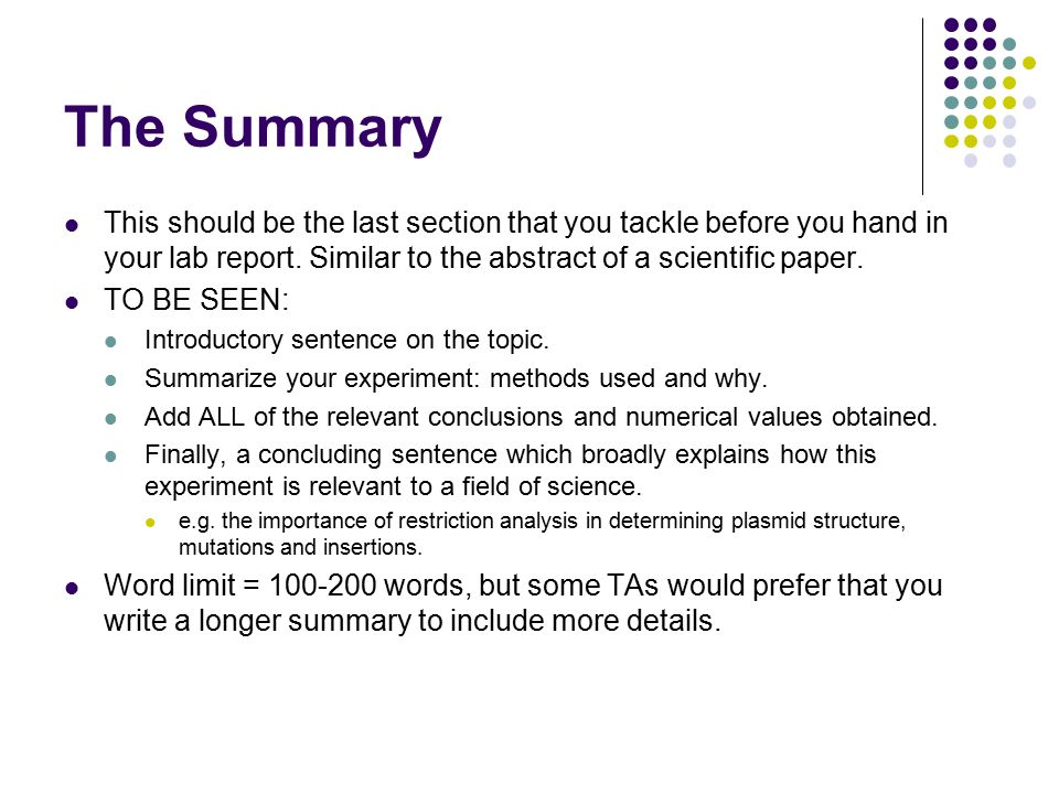 how do you write a lab report There are exactly two ways: 1) the way your teacher or boss wantsyou to please ask them for a sample and follow it.