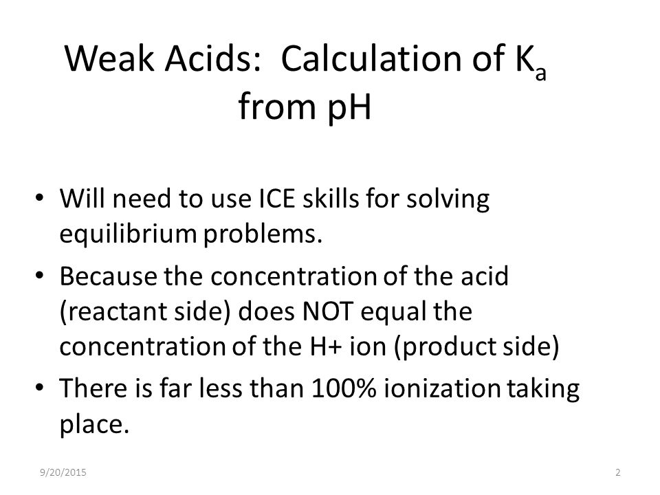how to find the concentration of an acid