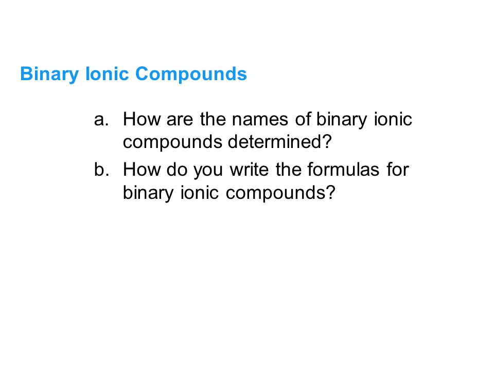 Binary compound naming rules