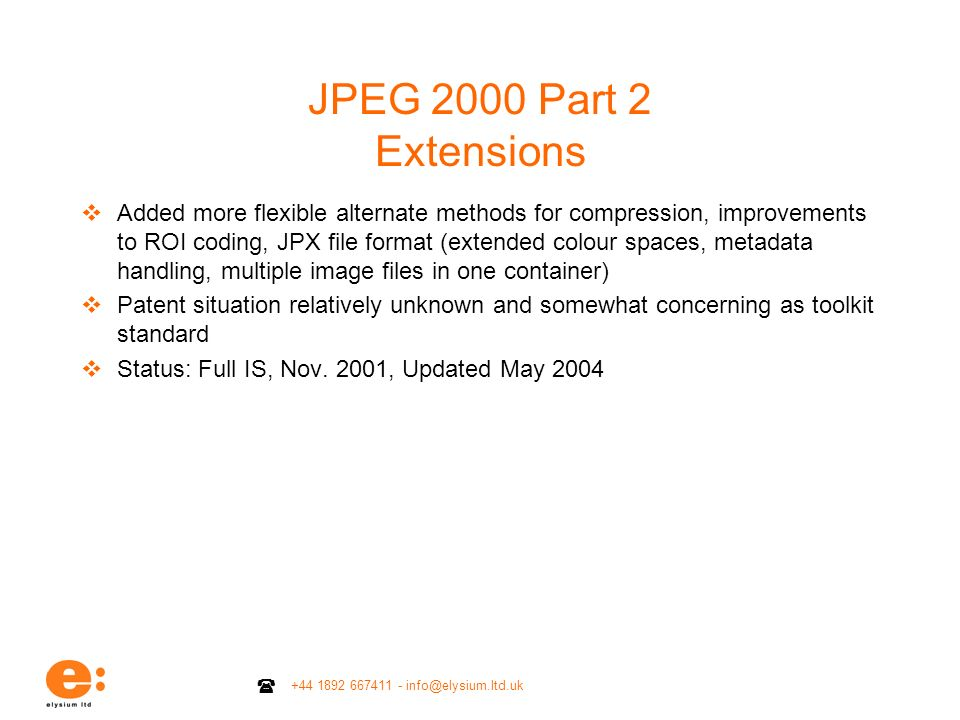 JPEG 2000 Part 2 Extensions