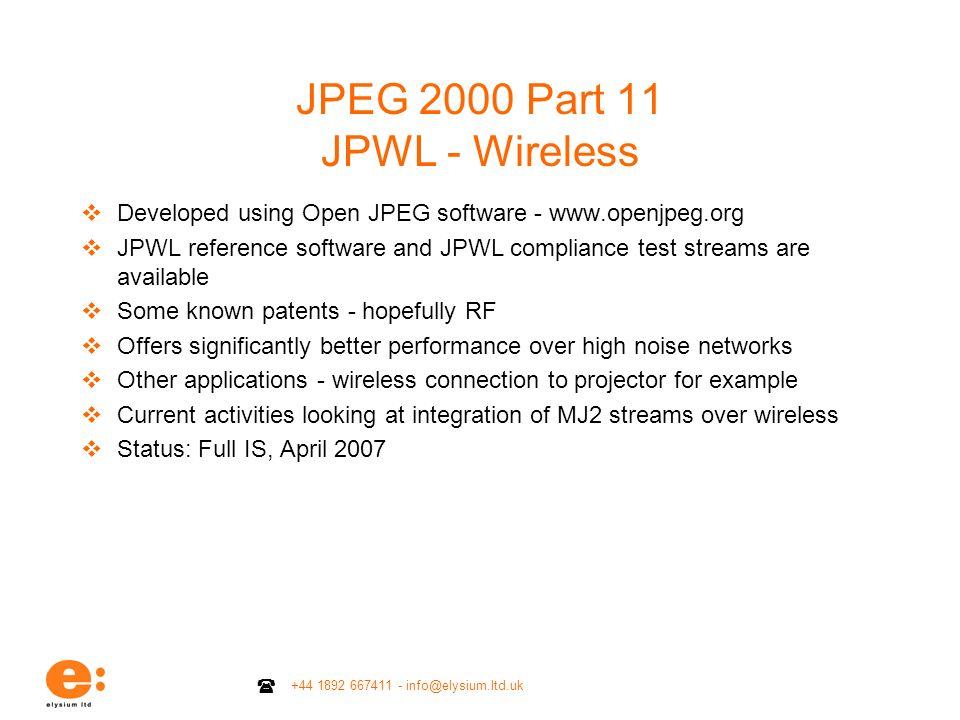 JPEG 2000 Part 11 JPWL - Wireless