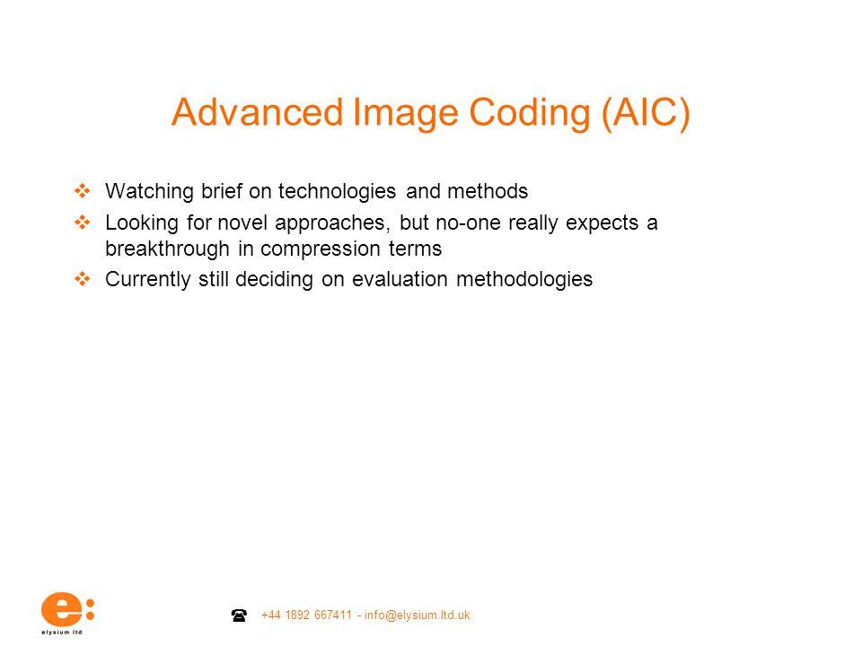 Advanced Image Coding (AIC)
