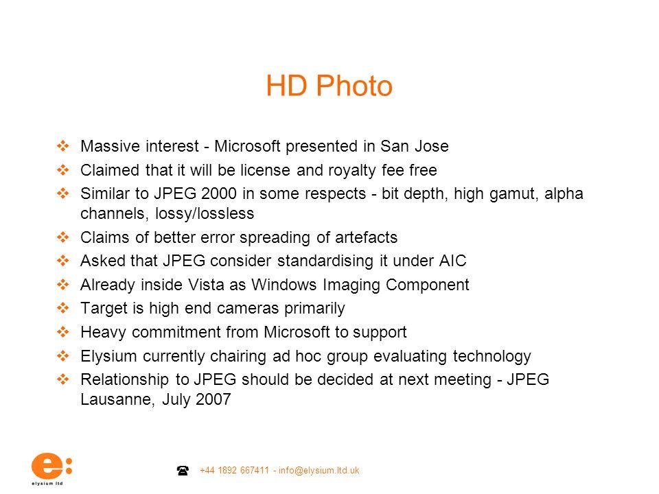 HD Photo Massive interest - Microsoft presented in San Jose