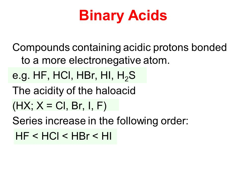 Binary compounds containing hydrogen