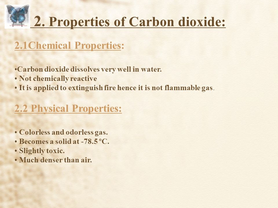 A Chemical Property Of Carbon Dioxide