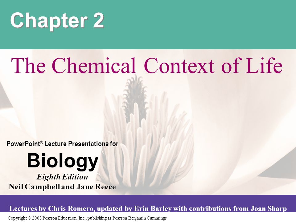 chemical context of life Study 2 chemical context of life flashcards from arevir divad's lehman class online, or in brainscape's iphone or android app learn faster with spaced.