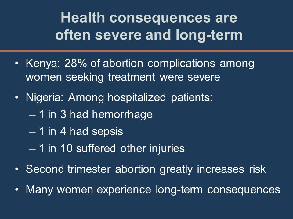 Health consequences are often severe and long-term