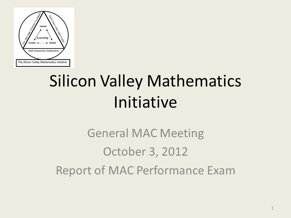 Silicon Valley Mathematics Initiative