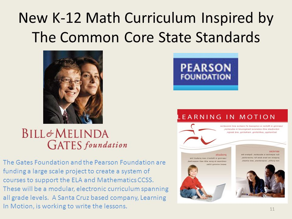 New K-12 Math Curriculum Inspired by The Common Core State Standards