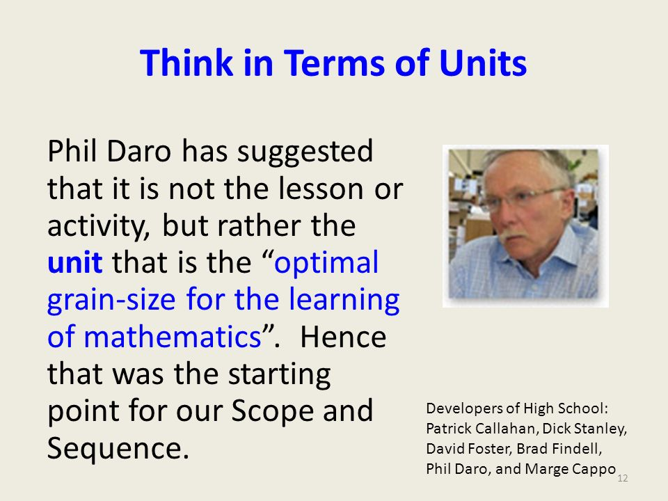 Think in Terms of Units