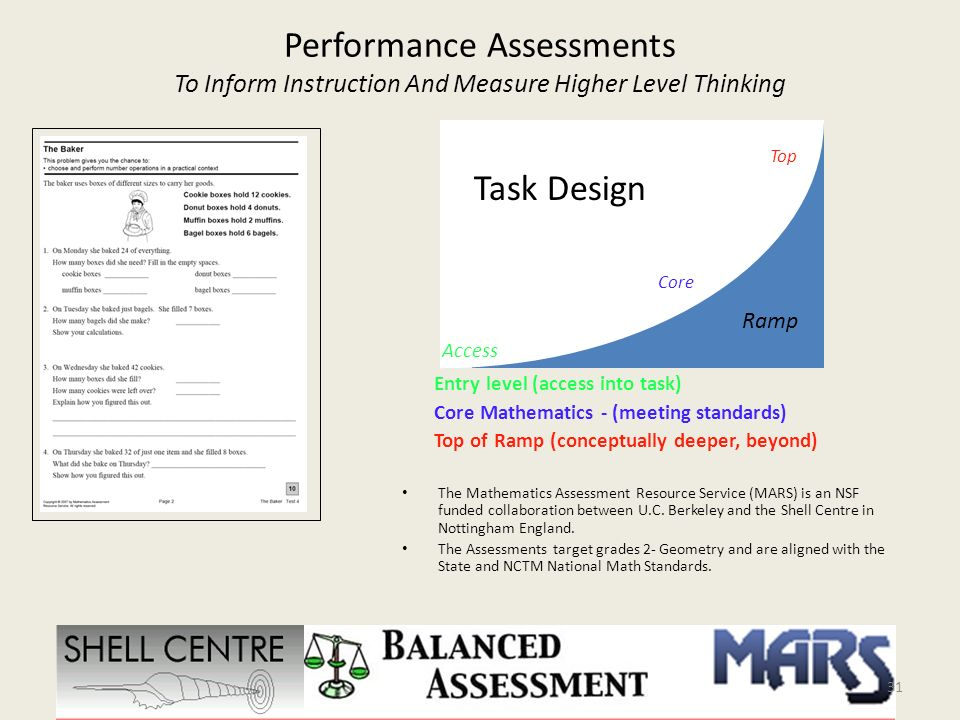 Performance Assessments To Inform Instruction And Measure Higher Level Thinking