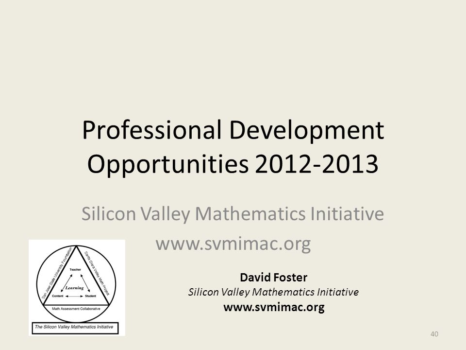 Professional Development Opportunities 2012-2013