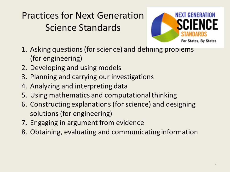 Practices for Next Generation Science Standards